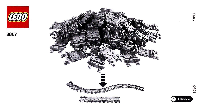 LEGO City - 64 bewegliche / flexible Schienen passend zu 7939 und 7938 und 7896 8867