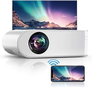 Opinión sobre Proyector con WiFi, mini proyector portátil, soporte 1080P, retroproyector con Dolby Decoding, proyector LCD para cine en casa