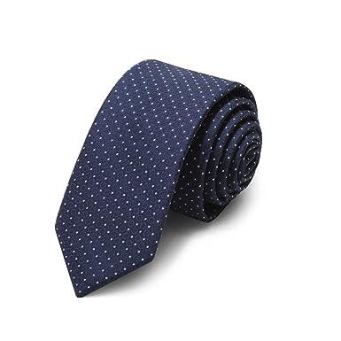 HXCMAN 5cm navy Azul lunares corbata estrecho diseño clásico 100 ...