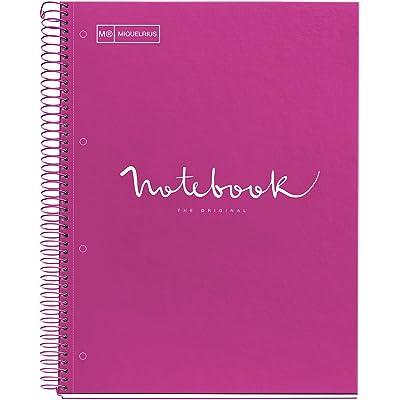 MIQUELRIUS - Cuaderno Notebook Emotions - 1 franja de color, A4, 80 Hojas cuadriculadas 5mm, Papel 90g, 4 Taladros, Cubierta de Cartón Extraduro, Color Formentera