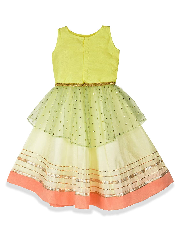 0dd59e079 K&U Girl's Lemon Yellow and Offwhite Lehenga Choli: Amazon.in: Clothing &  Accessories