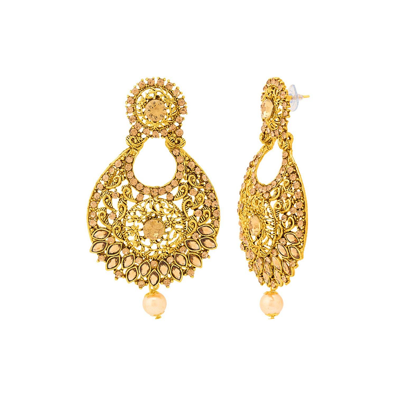 Buy Voylla Gold Plated Drop Earrings for Women