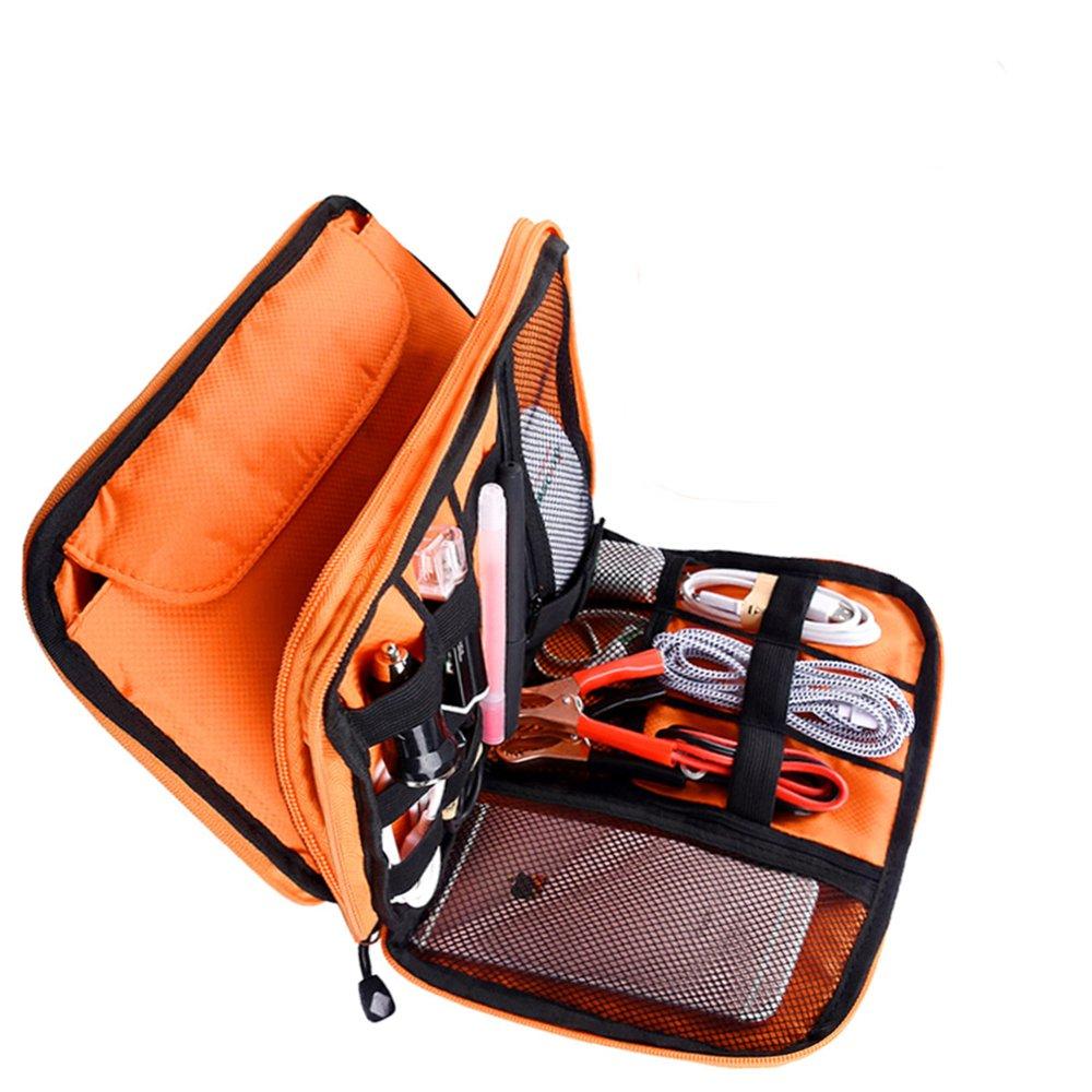Defway Electronic Organizer, Travel Gadget Bag For Document Organizer & Passport Holder