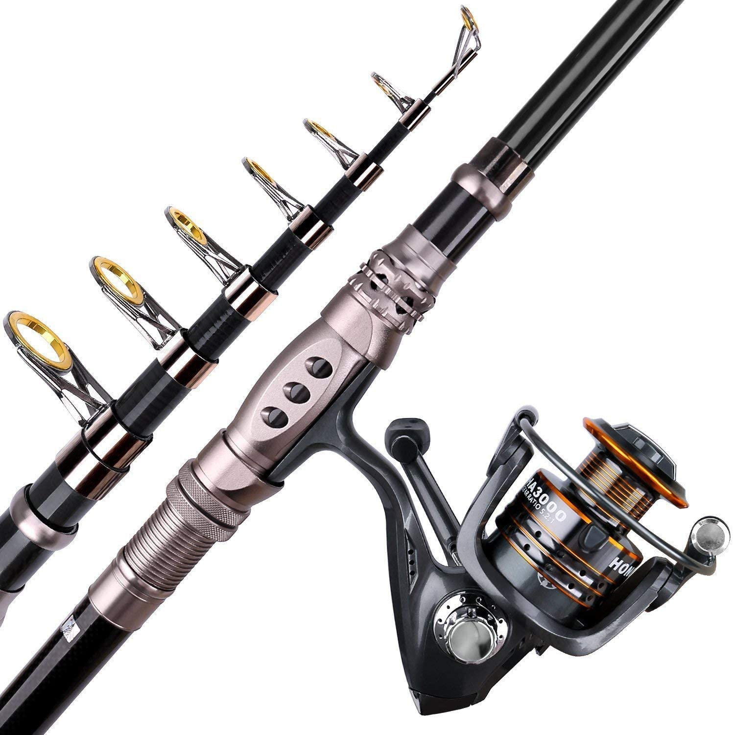 PLUSINNO Fishing Rod and Reel Combo for trout fish