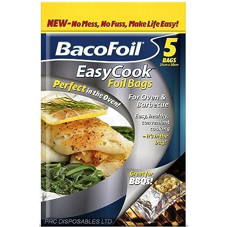 Bolsas de aluminio Bacofoil 5Pk bolsa de fácil cocinar horno ...