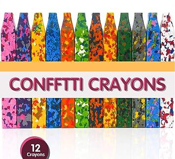 Putwo Crayons A La Cire 12pcs Crayons A La Cire Lavable Carres