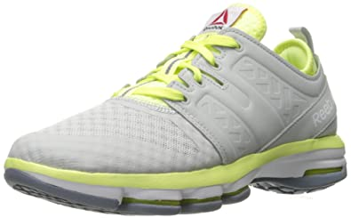 b402e6b0970 Reebok Women s Cloudride DMX Walking Shoe Skull Grey Lemon Zest Asteroid  Dust White
