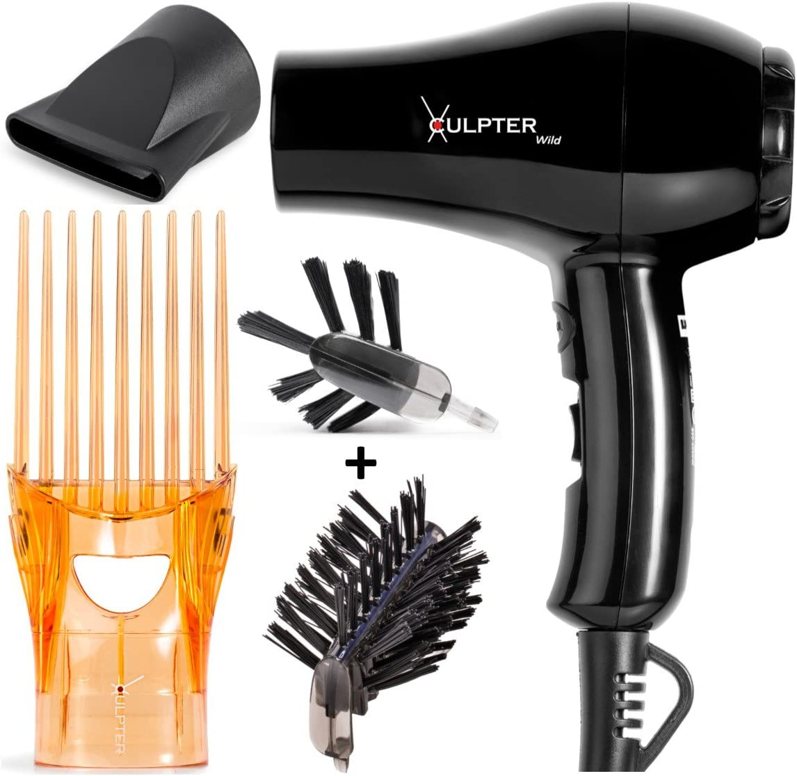 Xculpter Wild Asciugacapelli Lisciante 2 spazzole Sun