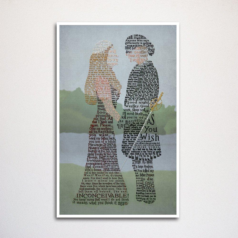 Princess Bride word art print -11x17 Westley Buttercup