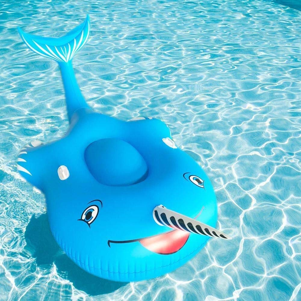 LUCY STORE Beach 2019 Narwhal Floating Row Inflatable Toy, Thick Floating Bed Swimming Ring Water Floating Ball Toy, Swimming Pool Toy - 270 140 100cm Family by LUCY STORE