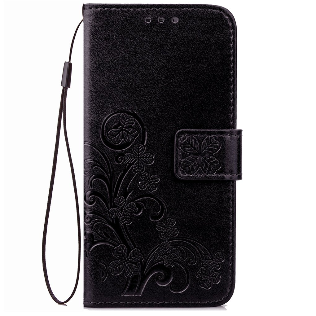 Amazon.com: Vodafone Smart Turbo 7 Case, SATURCASE Lucky Clover PU Leather Flip Magnet Wallet Stand Card Slots Protective Case Cover for Vodafone Smart ...