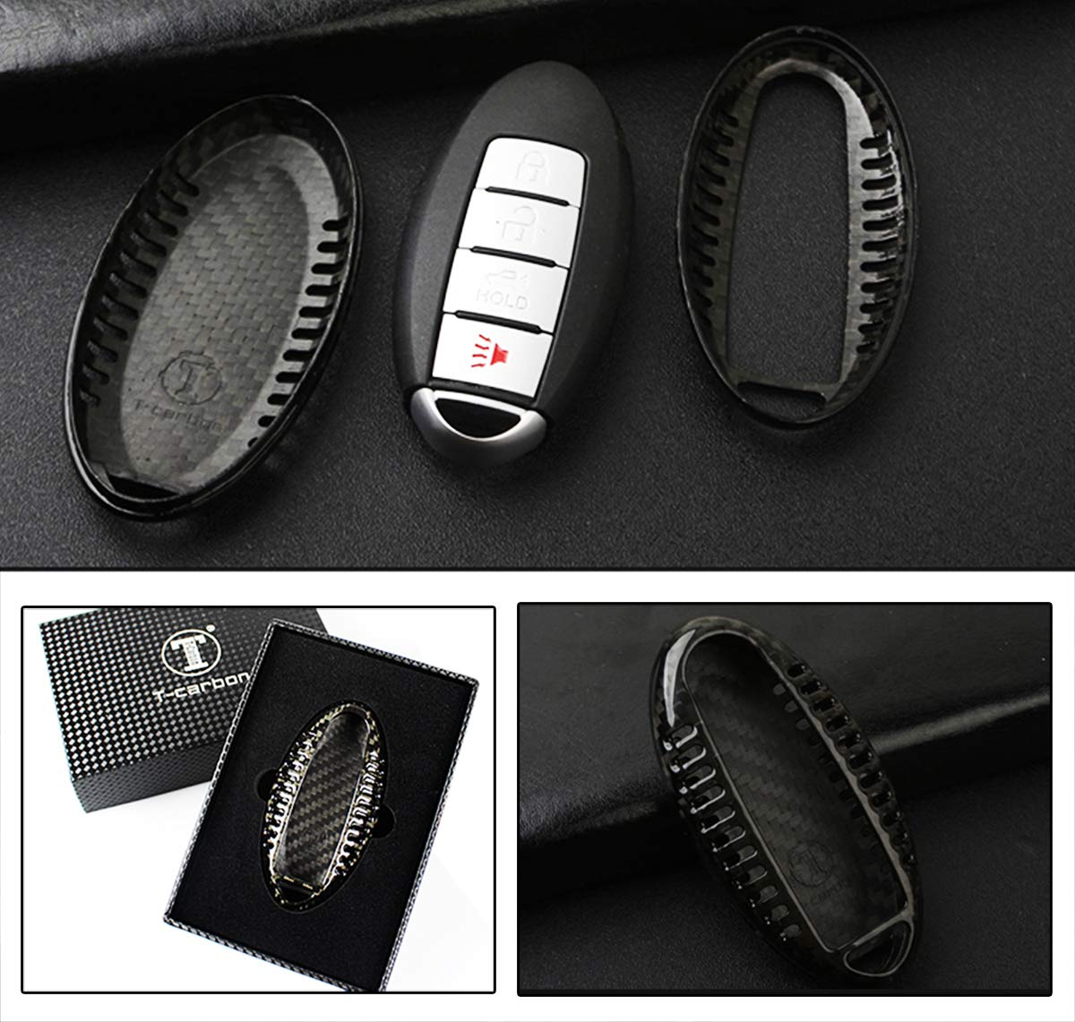 Luxury Real Carbon Fiber SNAP ON CASE for Infiniti Models Key KEYLESS FOB REMOTE-Q50 Q70 Q60 G37 G35 QX FX Cuztom Tuning