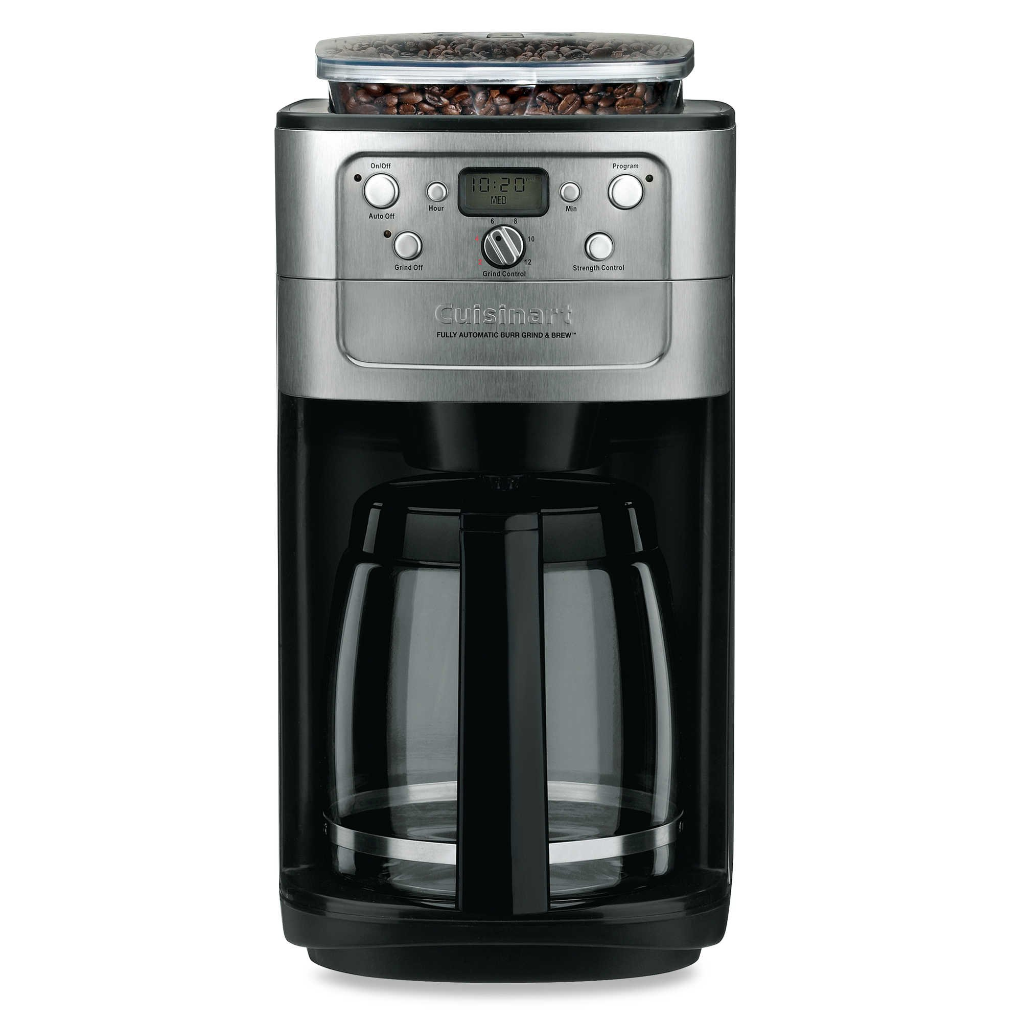 Cuisinart Automatic Coffeemaker Burr Grind And Brew 12 Cup Charcoal Water Filter 5 Oz.