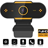 Full HD1080P Webcam with Microphone, Auto Focus Web Camera for Studying Online, Recording, Video Calling, Conference, USB PC