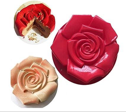 Oferta amazon: Chikanb 3D Molde de Silicona, Grande Flores de Rosa en Forma de Molde, Antiadherente Molde para Hornear Pasteles, Chocolate, Bizcocho, Pastel Arcoiris, Boda/Fiesta de Cumpleaños Gegalo