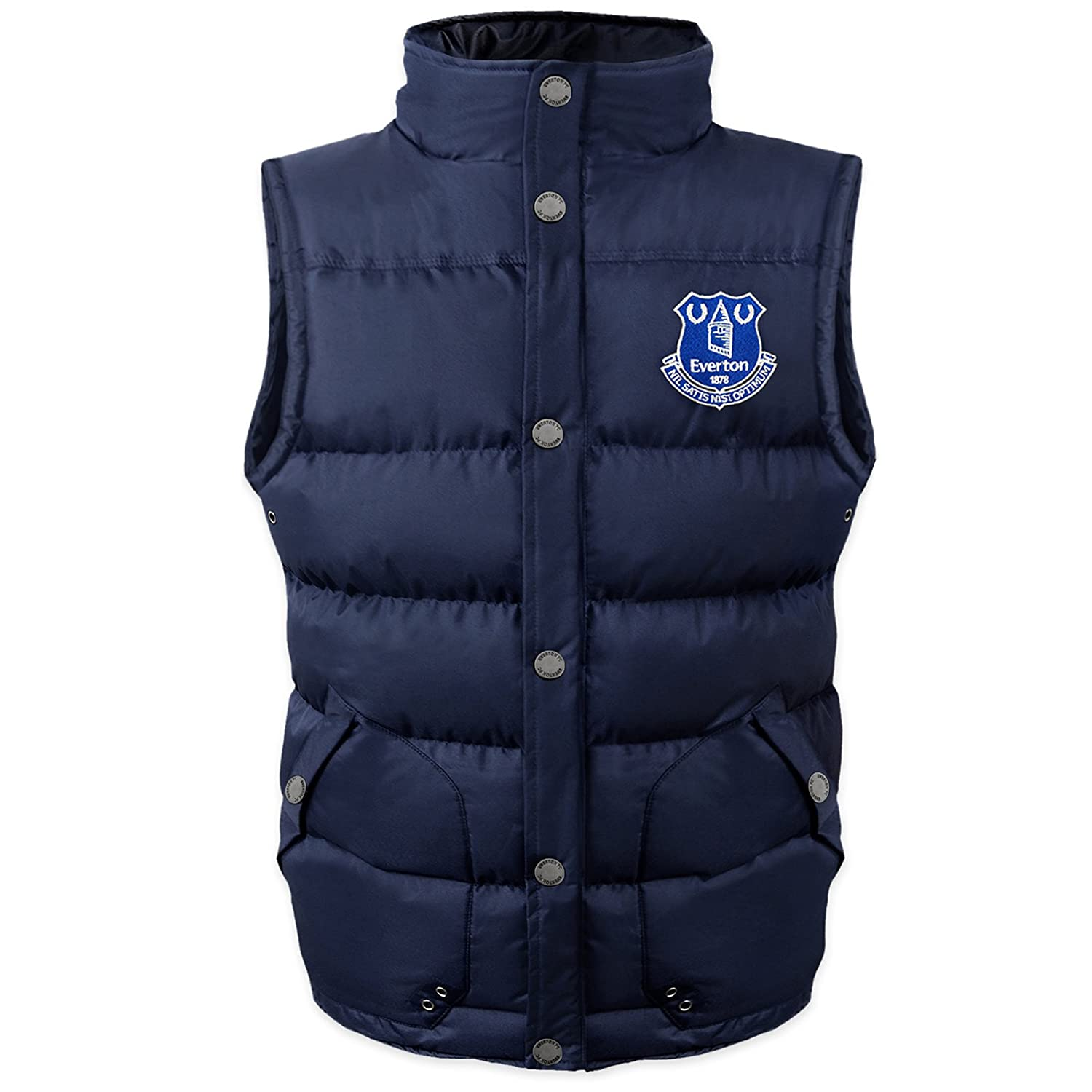 Everton FC Official Football Gift Boys Padded Body Warmer Jacket Gilet