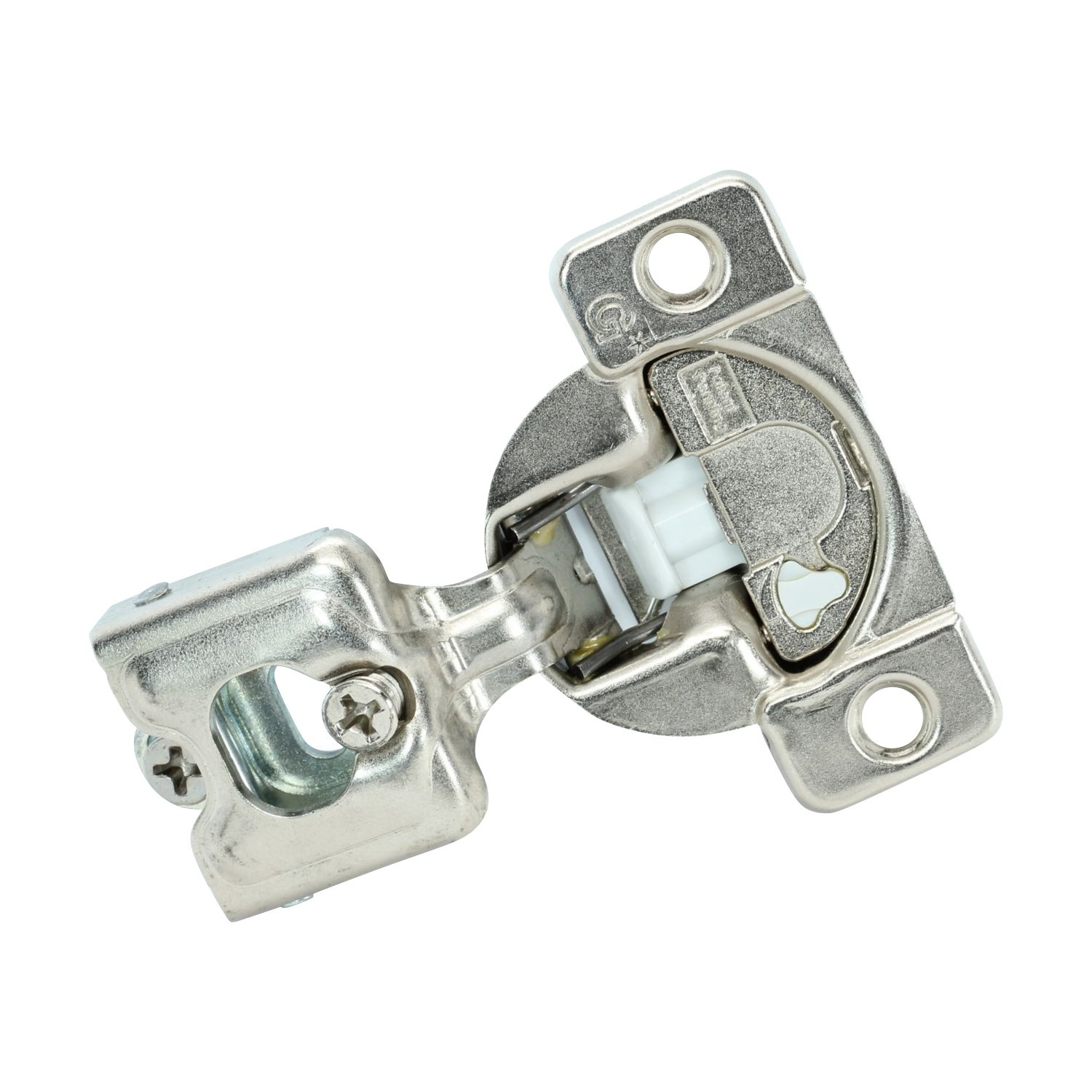 50 Pack Rok Hardware Grass TEC 864 108 Degree 3/4'' Overlay 3 Level Soft Close Screw On Compact Cabinet Hinge 04432A-15 3-Way Adjustment 45mm Boring Pattern