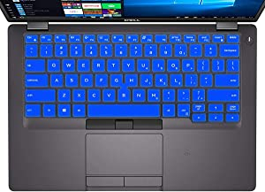 "Keyboard Cover Skin for 14"" Dell Latitude 5400 5401 Keyboard Cover for Dell Latitude 5000 5400 5401 14"" Notebook Keyboard Protector, Dell Latitude 5000 Accessories (with Point), Blue (US Layout)"
