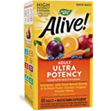 Nature's Way Alive! Once Daily Adult Multivitamin, Ultra Potency, Food-Based Blends, 60 Tablets