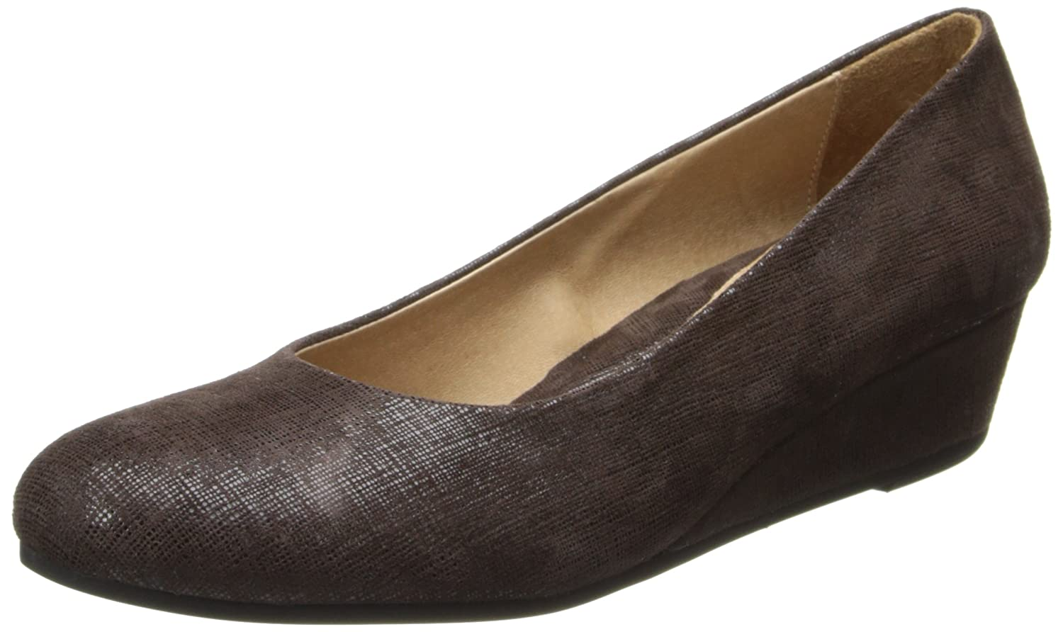 French Sole FS/NY Women's Gumdrop Wedge Pump B00JLZ3NF4 5.5 B(M) US|Brown Cartizze