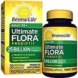 Renew Life Adult 50+ Probiotic - Ultimate Flora Probiotic, Shelf Stable Probiotic Supplement - 25 Billion - 30 Vegetables Capsules