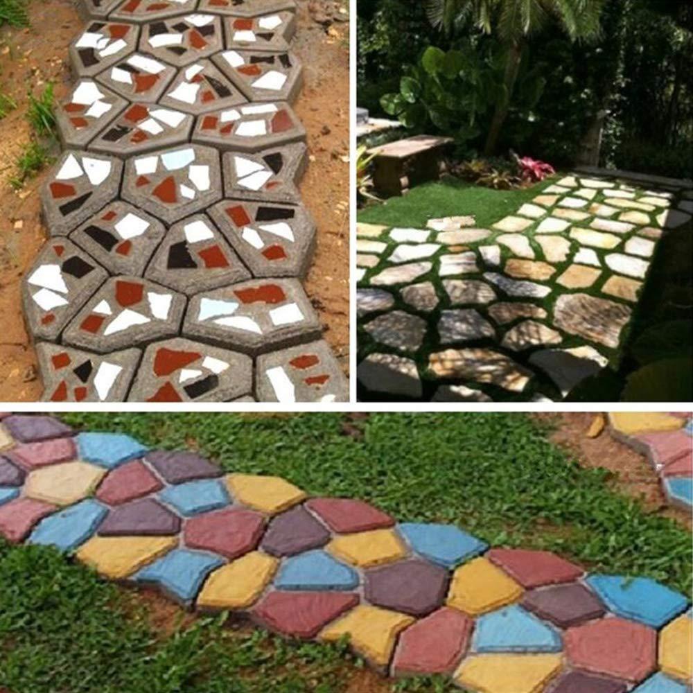 XTXWEN Molde para moldes de concreto Molde Fundido 50x50x4 cm - para concreto, adoquines de Piedra Natural, adoquines, adoquines, losas de Patio, ...