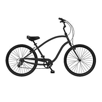 Phat Cycles Del Rey 7 Speed Cruiser Bike Null Black