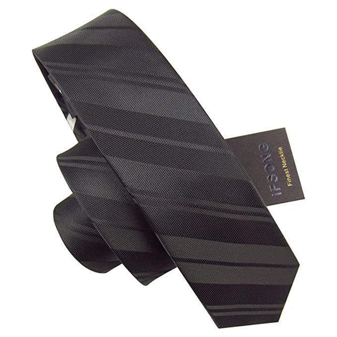 HXCMAN 5.5cm blanco negro cuadros estrecha corbata Diseño clásico ...