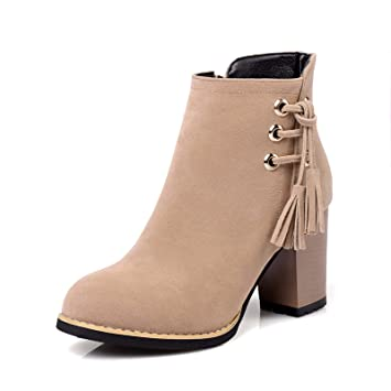 HBDLH Chaussures pour FemmesTassel Bottes Court De Bottes