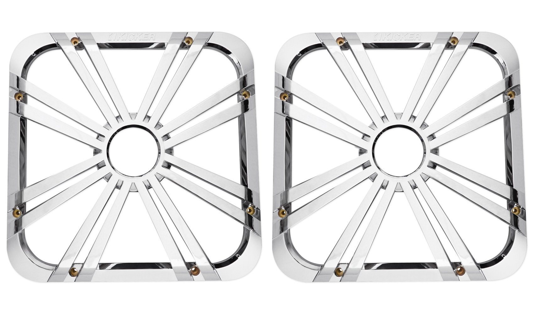 (2) Kicker 11L712GLC 12'' Charcoal Grilles With LED Lighting For SoloBaric 11S12L7 Subwoofer