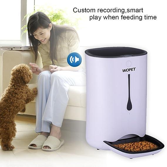 Amazon.com: WOpet Alimentador de mascotas 7L, alimentador ...