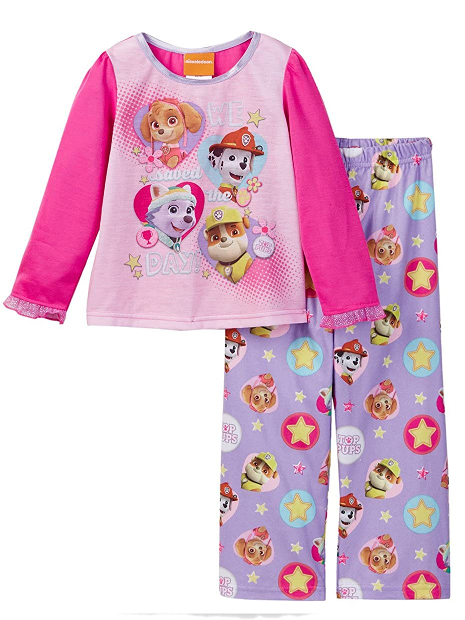 Paw Patrol Little Girls' Toddler We Saved the Day! 2-Piece Pajamas 2t WN241TLLZA