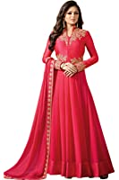Aryan Fashion Women's Georgette Dress Material (AF-11039_Free Size_Pink)