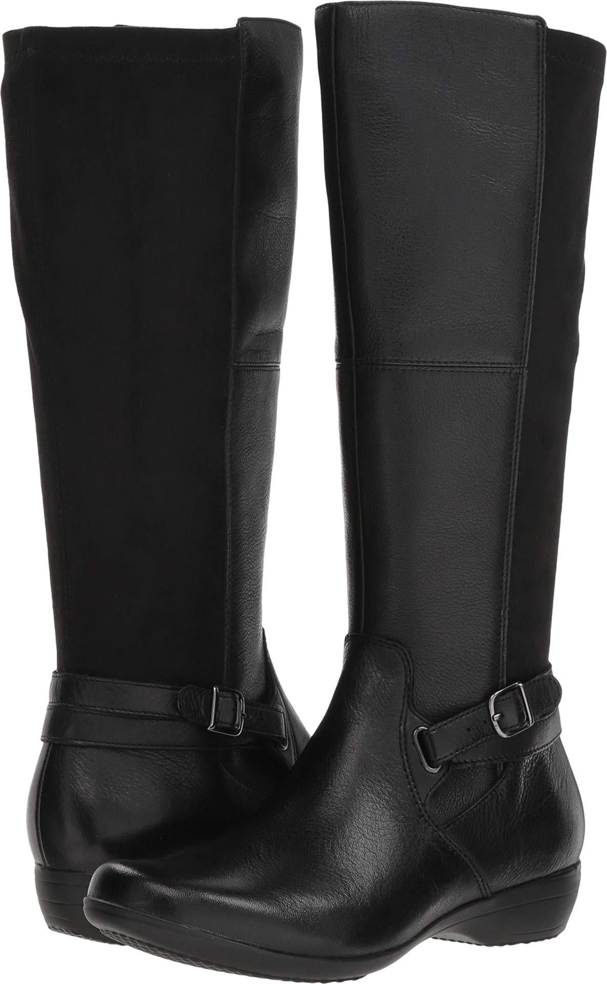 dansko Women's Francesca Knee High Boot, Black Milled Nappa, 39 M EU (8.5-9 US) by Dansko