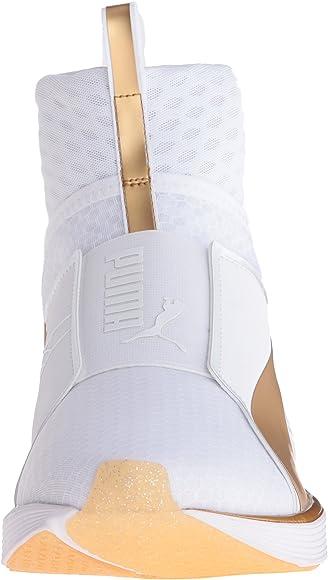 Fierce Cross-Trainer Shoe, White/Gold