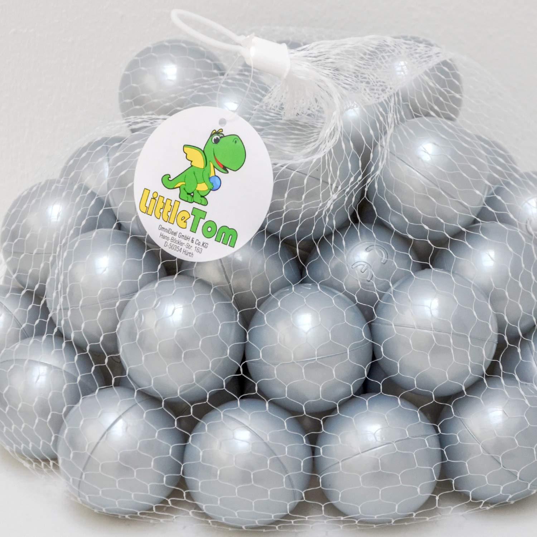 LittleTom Set di 50 Palline 5,5cm per riempire Piscine Gioco per Bambini Verde