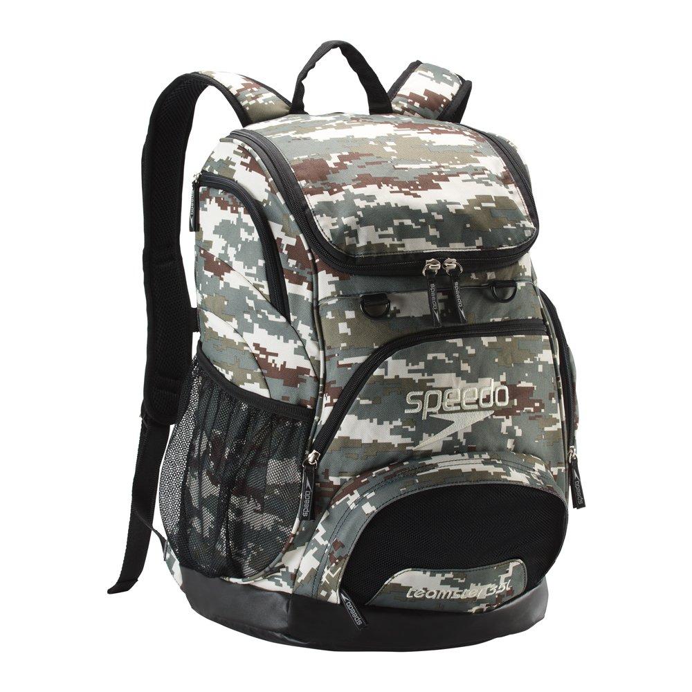 Speedo Printed Teamster 35L Backpack, Camo/Brn/Bge, 1SZ