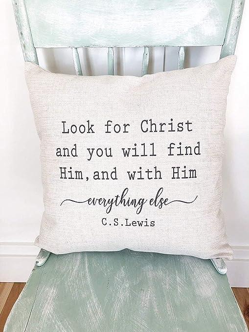 Busque la Funda de Almohada de Cristo Decoración de la casa ...