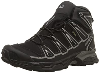 Salomon Men's X Ultra Mid 2 GTX Multifunctional Hiking Boot, Black/Black /Aluminum