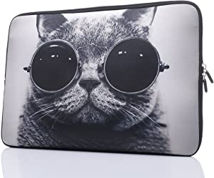 "11.6-Inch to 12-Inch Neoprene Laptop Sleeve Case Bag with Hidden Handles for 11"", 11.6"", 12"", 12.5"" Women MacBook/Tablet/Notebook/Ultrabook/Chromebook (Grey)"