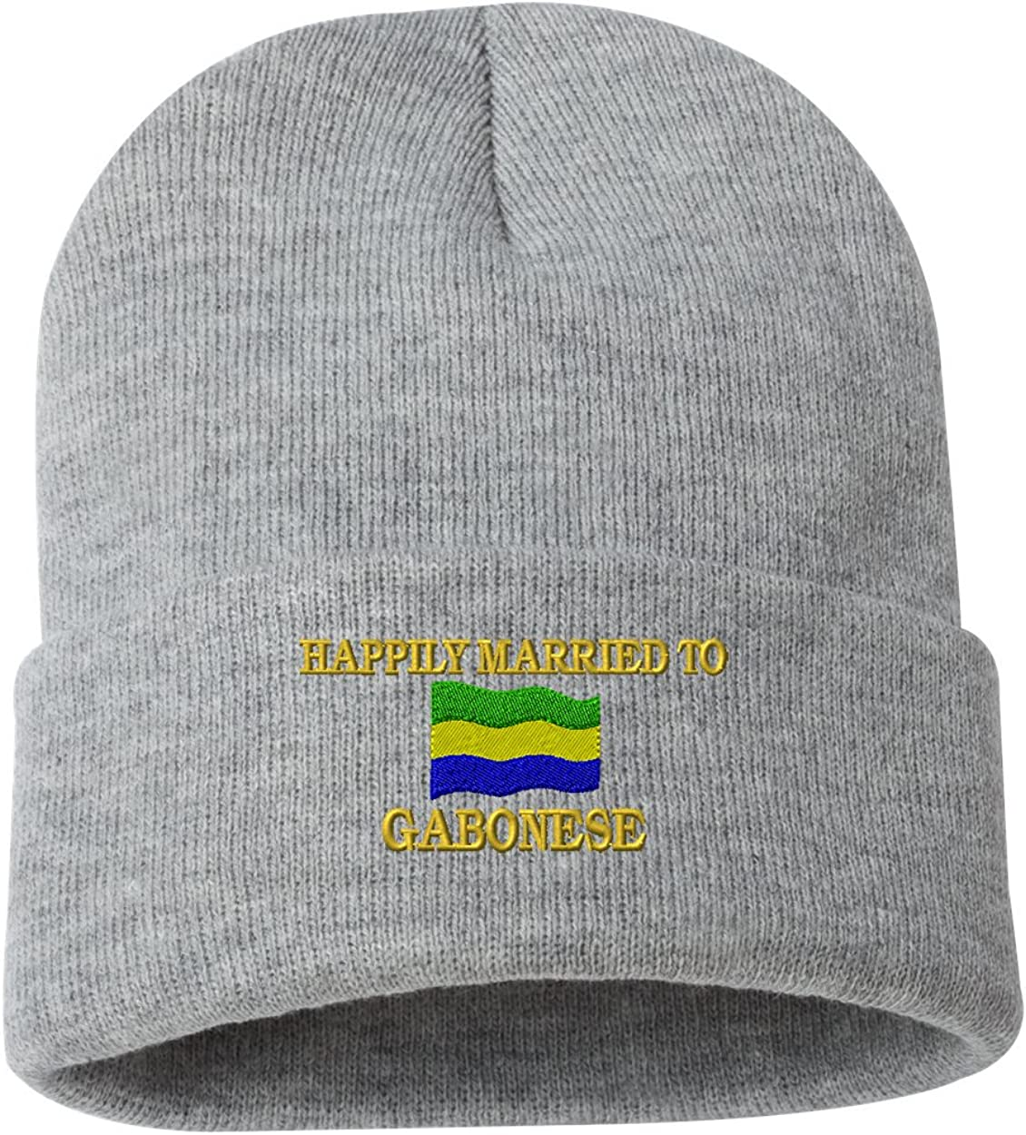 Happily married to Gabonese Custom Personalized Embroidery Embroidered Beanie