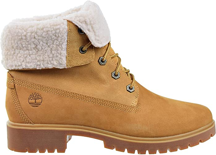 Timberland Womens Jayne Waterproof Teddy Fleece Fold Down