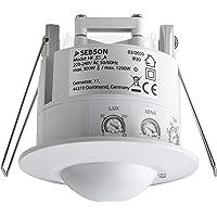SEBSON® HF Bewegingsmelder Inbouw Binnen, LED geschikt, Detectiebereik 2-16m/ 360°, Plafondmontage, Regelbaar