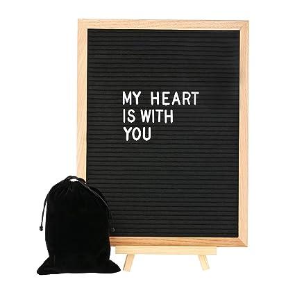 black felt letter board 12 x16 inch large changeable letter boards include 680 white plastic