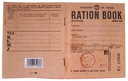 photograph relating to Ration Book Ww2 Printable known as Reproduction Junior Ration Ebook in opposition to Globe War 2