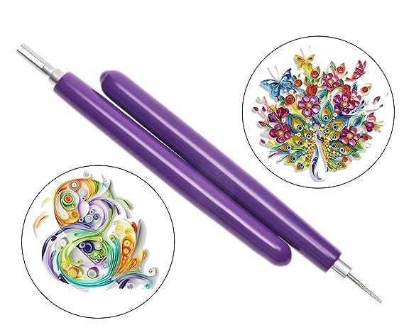 Craft Set Purple IT DIY   Slotted Quilling Purple  Kit   Paper Pen  Tools Art