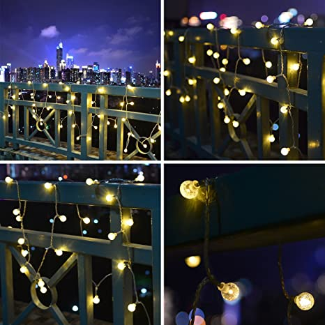 Decorative string lighting Night Rooftop Party Mopao 33ft Globe String Lights 80 Led Decorative String Lights Waterproof Fairy Lights With Amazoncom Amazoncom Mopao 33ft Globe String Lights 80 Led Decorative String
