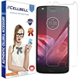 CELLBELL® Tempered Glass Screen Protector For Motorola Moto Z Play With FREE Installation Kit