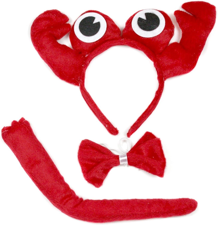 Mignon Crabe Rouge Bandeau Nœud papillon Queue 3PC Costume pour ...