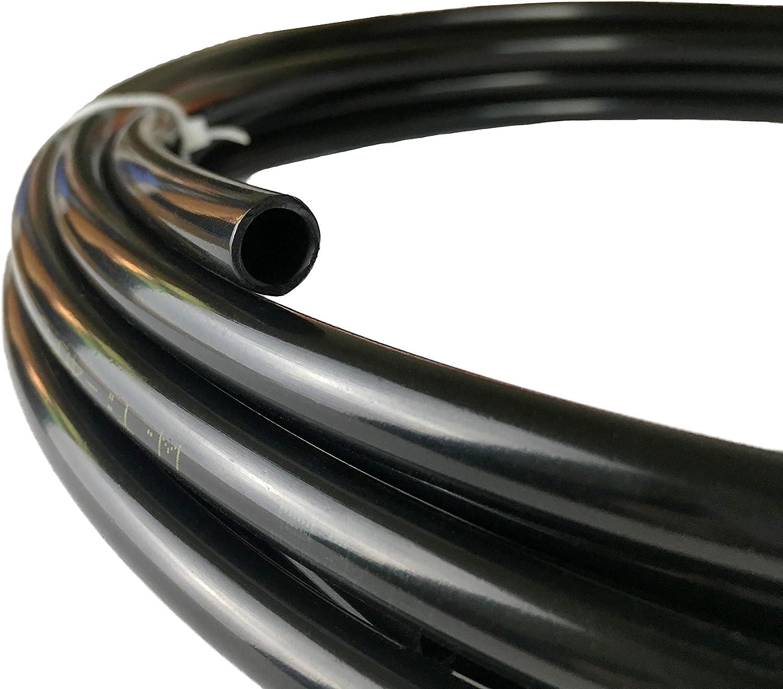 Nylon Tubing Fuel Line 3/16 inch OD Hose Vacuum Tube 0.11 ID, 20 feet Black